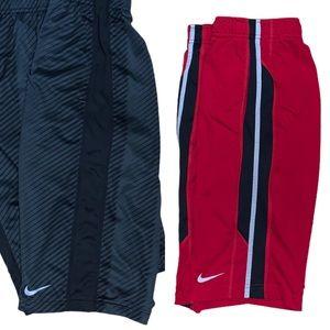 Nike Youth Bundle of 2 Athletic Shorts Size XL